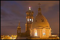 Cathedral at night, Puerto Vallarta, Jalisco. Jalisco, Mexico (color)