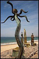 Sculpture on Circle of the Sea next to the beach, Puerto Vallarta, Jalisco. Jalisco, Mexico ( color)