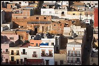 Houses and Cajaon de Garcia Rojas. Zacatecas, Mexico (color)