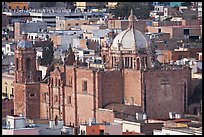 Temple de Santo Domingo seen from above. Zacatecas, Mexico (color)