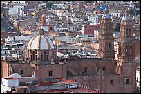 Catheral and rooftops. Zacatecas, Mexico (color)