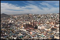 Panoramic view of the town from Paseo La Buffa, morning. Zacatecas, Mexico ( color)