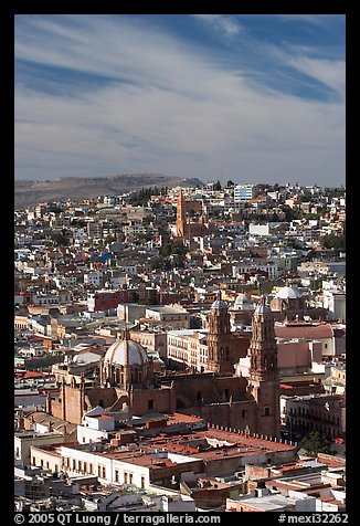 View of the cathedral and town. Zacatecas, Mexico (color)