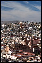View of the cathedral and town. Zacatecas, Mexico ( color)