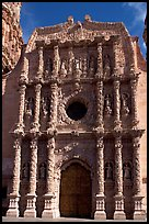 Churrigueresque carvings on the facade of the Cathdedral. Zacatecas, Mexico (color)