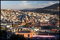 Panoramic view of town  from near the Teleferico, late afternoon. Zacatecas, Mexico ( color)