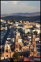 Cathedral and town, late afternoon. Zacatecas, Mexico