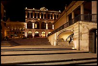 Goitia Square and Teatro Calderon at night. Zacatecas, Mexico