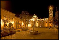 Square of Arms at night. Zacatecas, Mexico