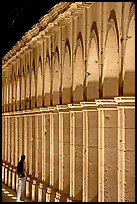 Columns of Poseda de la Moneda by night. Zacatecas, Mexico