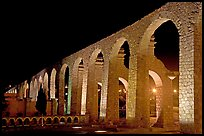 Aqueduct by night. Zacatecas, Mexico (color)