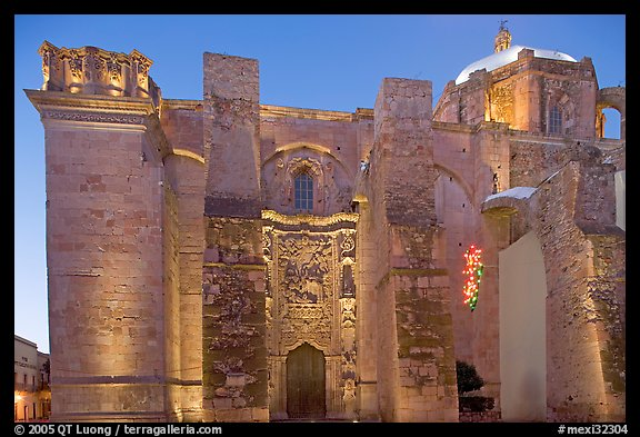 The former St Augustine church at dawn. Zacatecas, Mexico (color)