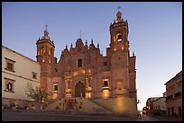 Church Santo Domingo at dawn. Zacatecas, Mexico