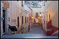 Passageway at dawn. Zacatecas, Mexico (color)