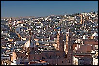Panoramic view of Cathedral and town, morning. Zacatecas, Mexico ( color)