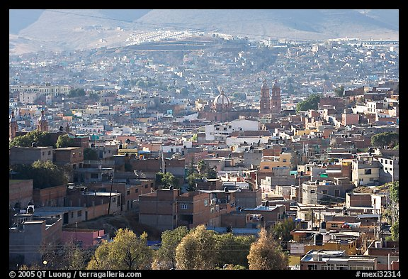 View of the town, morning. Zacatecas, Mexico (color)