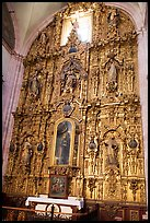 Guilded altar in Church Santo Domingo. Zacatecas, Mexico