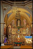 Decorated church altar. Guanajuato, Mexico