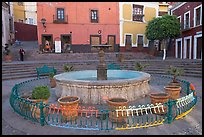 Fountain on Plazuela de los Angeles. Guanajuato, Mexico