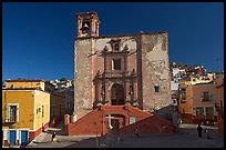 Plaza and church San Roque, early morning. Guanajuato, Mexico