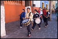 Children with drums. Guanajuato, Mexico (color)