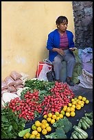 Vegetable street vendor. Guanajuato, Mexico (color)