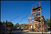 Tower above the main shaft of La Valenciana mine. Guanajuato, Mexico (color)