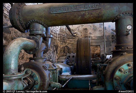 Industrial machinery, Valenciana mine. Guanajuato, Mexico