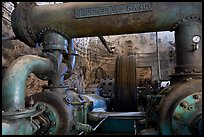 Industrial machinery, Valenciana mine. Guanajuato, Mexico (color)