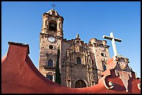 Facade of La Valenciana church, late afternoon. Guanajuato, Mexico