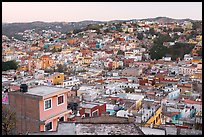 Panoramic view of the town at dawn. Guanajuato, Mexico (color)
