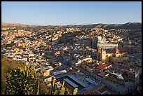 Panoramic view of the historic town center, early morning. Guanajuato, Mexico (color)