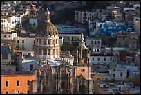 Church of la Compania de Jesus, early morning. Guanajuato, Mexico (color)