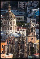 Church of la Compania de Jesus, early morning. Guanajuato, Mexico ( color)