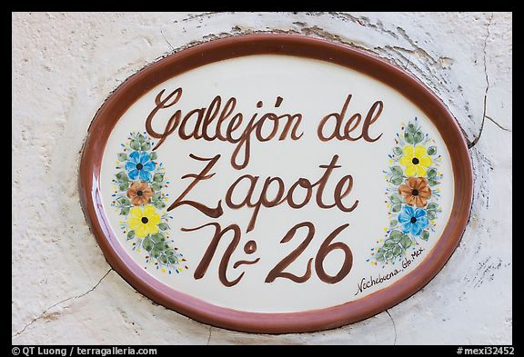 Street number sign. Guanajuato, Mexico (color)
