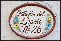 Street number sign. Guanajuato, Mexico ( color)
