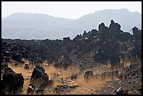 Hardened lava and hills. Mexico (color)