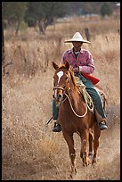 Man riding a horse. Mexico (color)