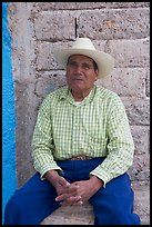 Man with cowboy hat. Mexico ( color)