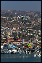 Harbor and hillside houses, Ensenada. Baja California, Mexico (color)