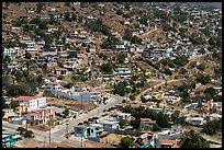 Houses on city outskirts, Ensenada. Baja California, Mexico (color)