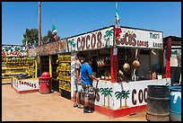 Customers at food stand. Baja California, Mexico (color)