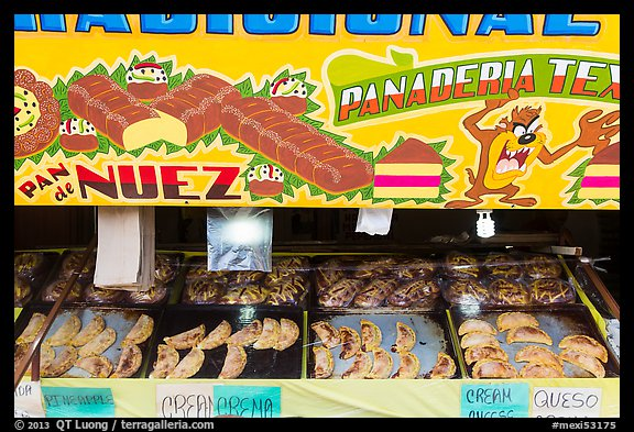 Bakery items. Baja California, Mexico (color)