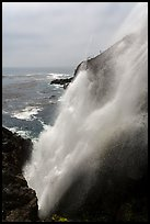 Tidewater blowhole, La Bufadora. Baja California, Mexico ( color)