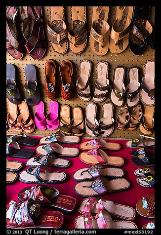 Sandals for sale. Baja California, Mexico (color)