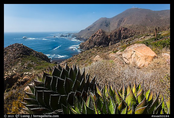 Mountainous Pacific coastline. Baja California, Mexico (color)