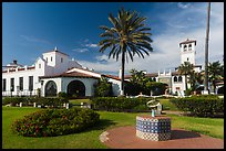 Riviera del Pacífico in Moorish-style architecture, Ensenada. Baja California, Mexico (color)