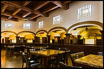 Room with elaborated mosaics and carved beams, Riviera Del Pacifico, Ensenada. Baja California, Mexico (color)