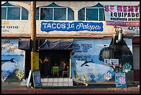 Fish taco restaurant, Ensenada. Baja California, Mexico ( color)