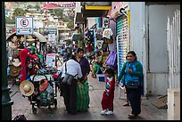 Women packing souvenirs for sale, Ensenada. Baja California, Mexico (color)